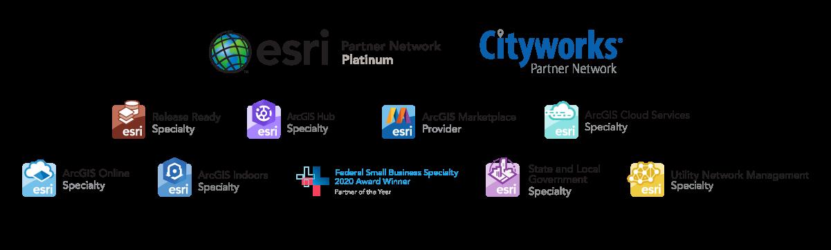 Esri Cityworks Badge Cluster