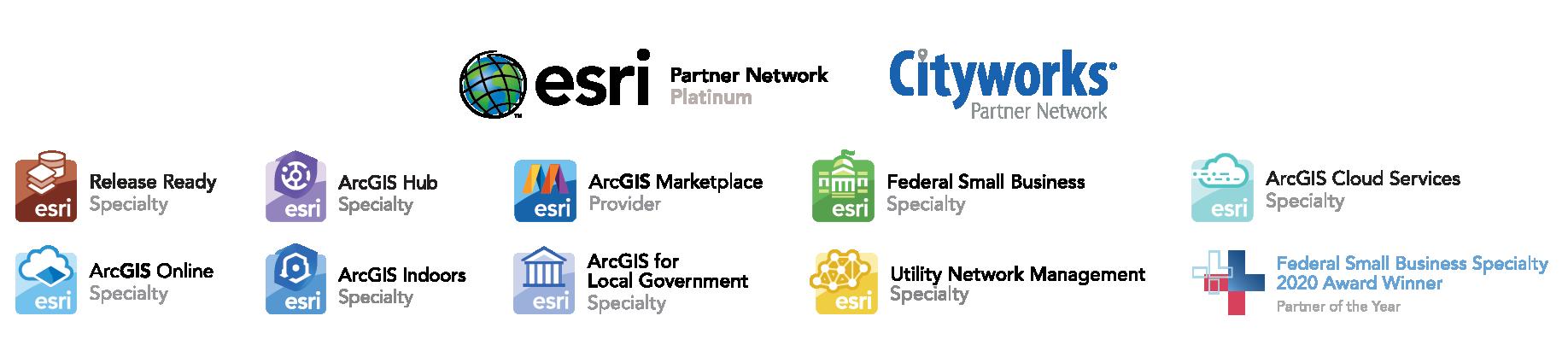 GISinc badge cluster